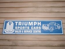 """NEW! '50'S STYLE TRIUMPH TR-3 SPORTS CAR 1'X46"""" METAL SIGN/AD w/ROADSTER GRAPHIC"""