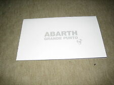 Fiat Abarth Grande Punto Prospekt Brochure prospetto von 11/2008