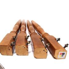 Tischbeine 4er Set Holz braun massiv Balusterform Tischfuß 705 mm Möbelbeine alt