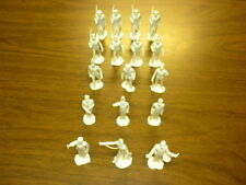 17 MILITARY ACADEMY CADETS Marx 1950's cream Playset figures lot #2