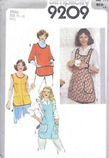 Vintage Women's Classic Full Apron Smock Sewing Pattern Uncut With Pockets