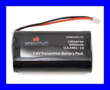 SPEKTRUM 4000MAH LIION Li-Ion TRANMITTER TX BATTERY FOR DX6R SPMB4000LITX !!