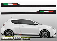 Alfa Romeo Mito 010 racing stripes graphics stickers decals