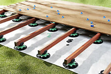 Adjustable risers - Pack of 60 Decking/Timber support - Pedestal - 50 to 80mm