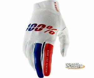 100% Adult RIDEFIT Gloves -CORPO X-LARGE- MX ATV Dirt MTB- Touch Screen