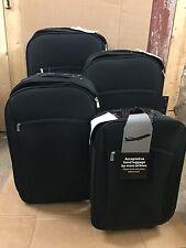 Tesco Trolley 2 Wheeled Black Suitcase Luggage Set of 4