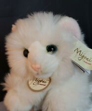 Miyoni Aurora Plush Stuffed Animal White Turkish Angora Cat Kitten with tags