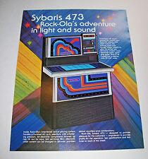 Rock Ola SYBARIS 473 Original 1978 Jukebox Phonograph Music Promo Sales Flyer