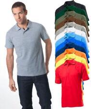 Mens Mans Plain Cotton Pique Polo Golf Sports Shirt No Logo Tshirt with Collar