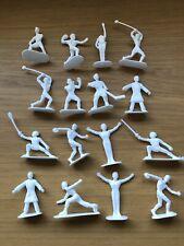 Kelloggs 1972 Olympic Sports Plastic white Figures x 16 Boxing Hockey Shot dive