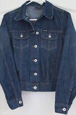 firetrap blackseal blue jean Cropped denim jacket coat size small