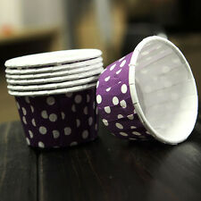 100PCS Dots Party Waxed Paper Cake Cupcake Liner Case Wrapper Muffin Baking Cup
