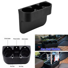 Black Car Cup Holder Vehicle Seat Gap Wedge Cup Drink Bottle Glove Box Organizer