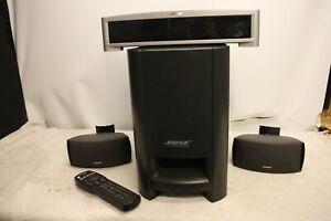BOSE PS3-2-1 II POWERED SPEAKER SYSTEM WITH AV3-2-1 DVD CD RADIO MEDIA CENTER