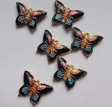 6 dell'era Maji Farfalla Perline, Nero/Rosa/Blu/Multicolore 20 mm. gioielli