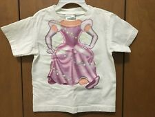 Toddler Girl White T-Shirt Top Princess Add A Kid Outfit 3T