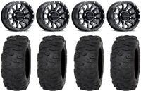 "Raceline Trophy 14"" Wheels Black +38mm 32"" Roctane XR Tires Textron Wildcat XX"
