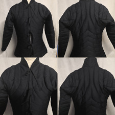 Medieval Black Gambeson Thick Padded  armor LARP SCA HEMA theater costume
