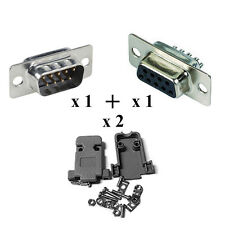 KIT CONNETTORE SERIALE DB9 MASCHIO E FEMMINA 9 PIN RS232