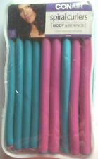 Conair 62504 Spiral Curlers Assorted Colors 18 Count~NEW
