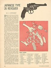 Vintage 67 2 page article 522 for Japanese Type 26 Revolver with Exploded View