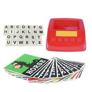 Alphabet English Spelling Letter Game Early Learning Toy Kid Gift J4P6
