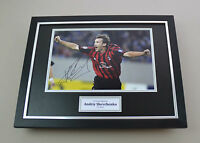Andriy Shevchenko Signed Photo Framed 16x12 AC Milan Autograph Display + COA