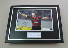 Andriy Shevchenko Signed Photo Framed 16x12 AC Milan Autograph Display + COA