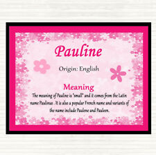 Pauline Name Meaning Dinner Table Placemat Pink