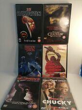 Cult Horror DVD Bundle 6 great films Chucky,freddy,jason,halloween🌟🎥📀🌟