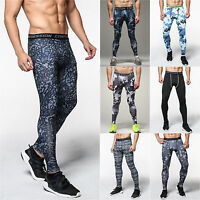 Mens Compression Long Pants Base Layer Leggings Athletic Wear Trousers Bottoms