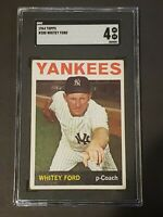 1964 Topps #380 Whitey Ford SGC 4 Newly Graded & Labelled