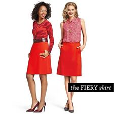 CAbi Fiery Skirt, Size 14, Red/Orange, NWOT  J1