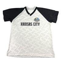 Vintage Kansas City Wizards KC Jersey Men's L MLS Soccer Futbol Shirt Sporting