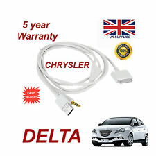 CHRYSLER DELTA MULTIMEDIA ADAPTER 71805430 iPhone iPod USB & Aux Cable (White)