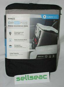 Car Go Pods USB Travel Portable Foldable Food Warming Bag Lunch Box
