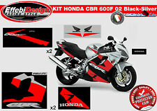 Adesivi/Stickers KIT ADESIVI HONDA CBR 600 F 2002 BLACK SILVER TOP QUALITY!!!
