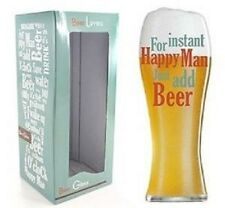 Beer lovers Pint Glass - For instant Happy Man Just add Beer LP24273