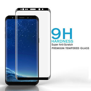 9H Tempered Glass Full Cover Screen Protector f Samsung Galaxy S9 Plus S21 S20