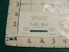 Vintage paper: business card CADILLAC MOTEL at St. Albans VT photo back