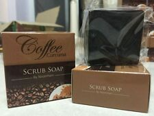 65g Coffee turmeric Scrub Facial Body Bar Soap Anticellulite Lush Homemade Vegan