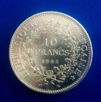 Jolie pièce de 10 Francs Hercule 1965 en argent / Réf ##2058## SUP