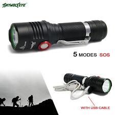 Skywolfeye Super Bright 6000LM XML T6 LED Flashlight Torch 5 Mode Light SOS ZH