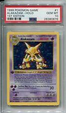Pokemon Base Set 1st Edition Shadowless Card #1 Alakazam PSA 10