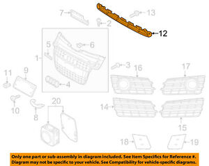 AUDI OEM 12-15 A7 Quattro Front Bumper-Lower Bottom Grille Grill 4G8807899A