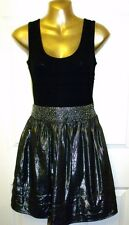 SALE!!!! NEW GORGEOUS EX-STORE BLACK & SILVER PARTY DRESS SIZE 8   #763