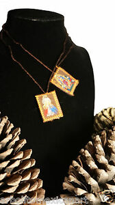 Imperfect Merciful Jesus and Guadalupe Handcrafted Scapular/Escapulario/Med