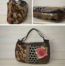 Desigual Authentic Women's Bolso Medio Patch Big Rose Bag Handbag