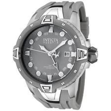 Invicta 0652 Reserve Collection Sea Excursion GMT Grey Dial Polyurethane Watch