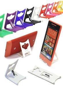 HTC Handy weiß Faltbar Reise iClip Desk Stand Rest Holder